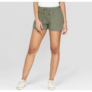 Universal Thread knit cotton army green shorts S